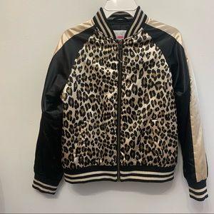 Leopard bomber jacket big girls